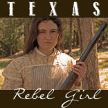 Texas Rebel Girl Button