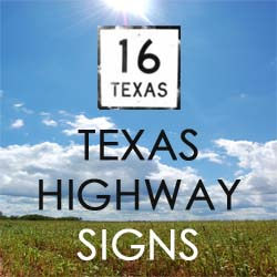 Texas Highway Signs button
